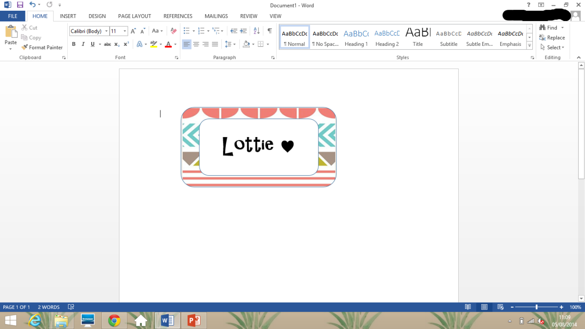 How To Make Notebook/Binder Labels In Microsoft Word