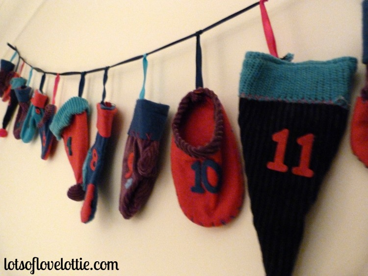 Our washing line advent calendar