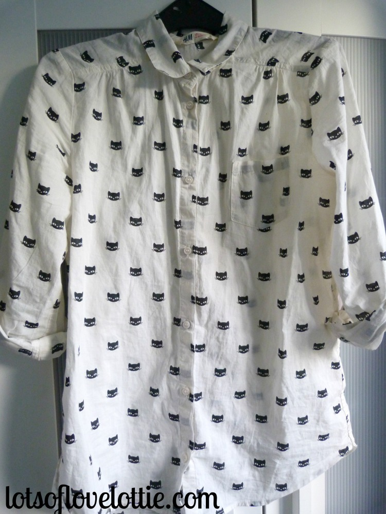 Lots of Love Lottie Blog January Favourites Cat Shirt 1
