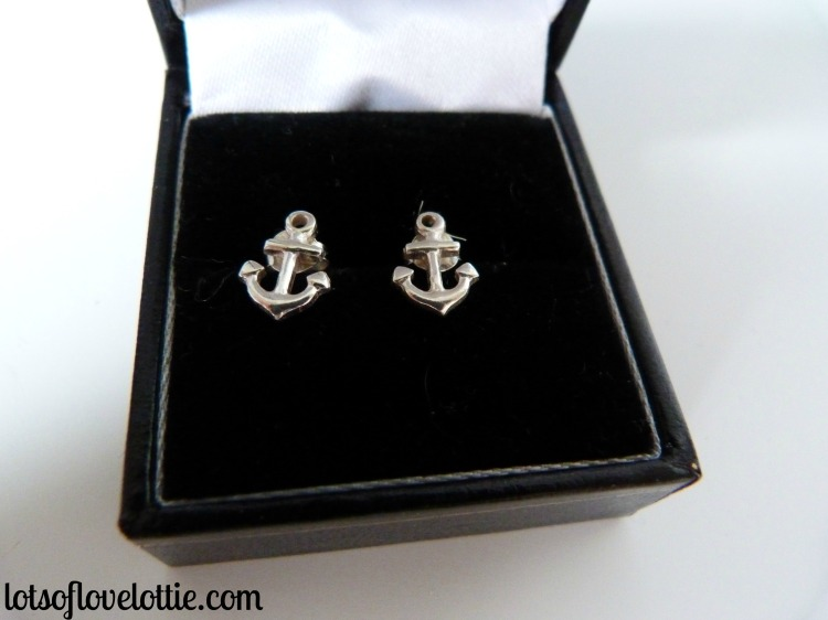 Lots of Love Lottie Blog Birthday Anchor Earrings