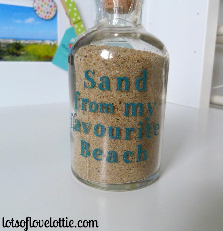 Lots of Love Lottie Blog Birthday Sand in a Bottle