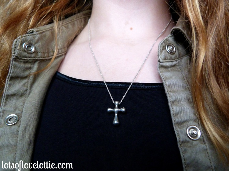 Lots of Love Lottie Blog Cross Necklace