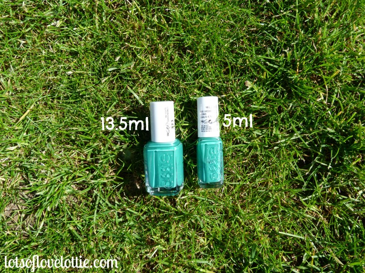 Essie Sizes Comparisons